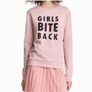 Girls bite back Pullover Sweatshirt